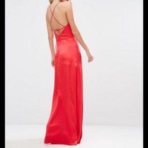 Urban Ouitfitters Cowl Neck Silk Maxi Dress